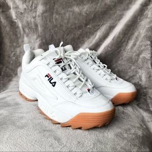 Fila Disrupter White Rubber Shoes Sneakers Filas